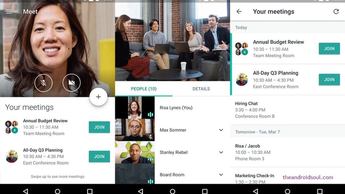 Google Meet is our preferred tool for online meetings to remote work
