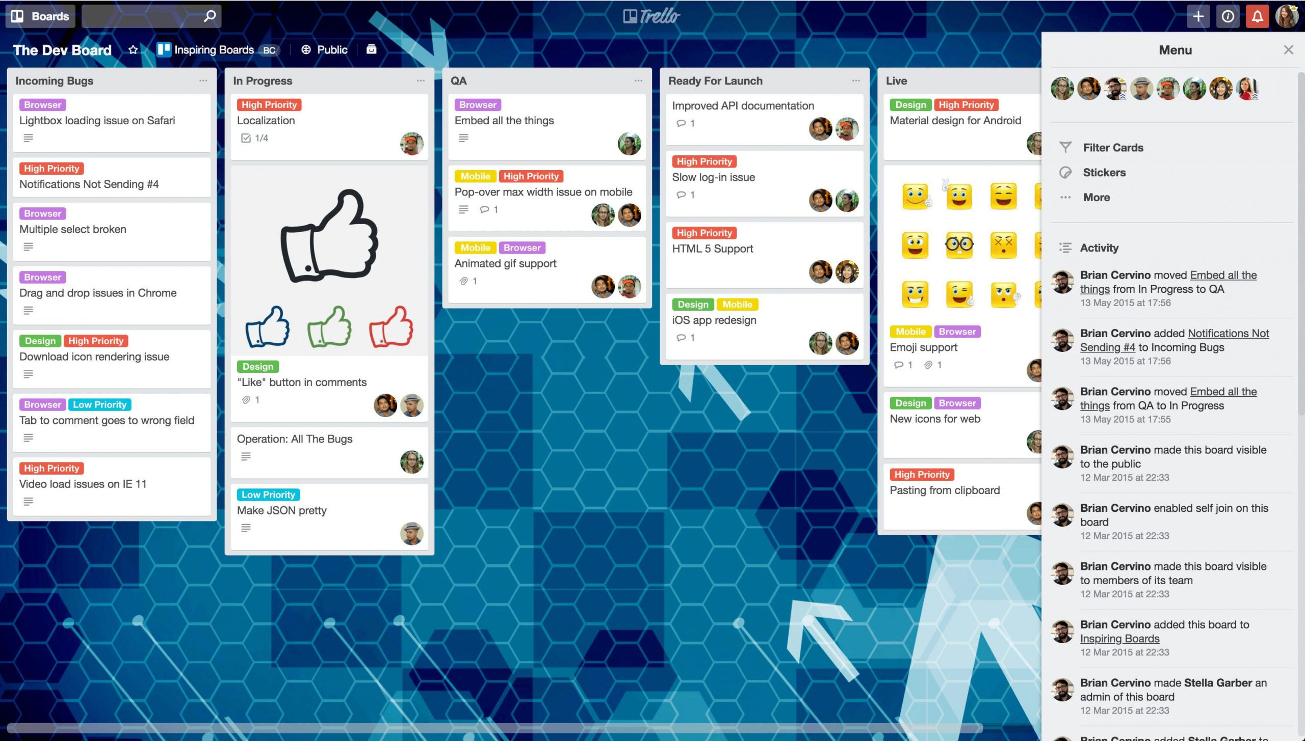 Trello helps to optimize your workflow on any scale
